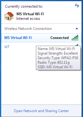 MS Virtual wifi 14